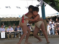 ちびっ子力士による奉納相撲大会