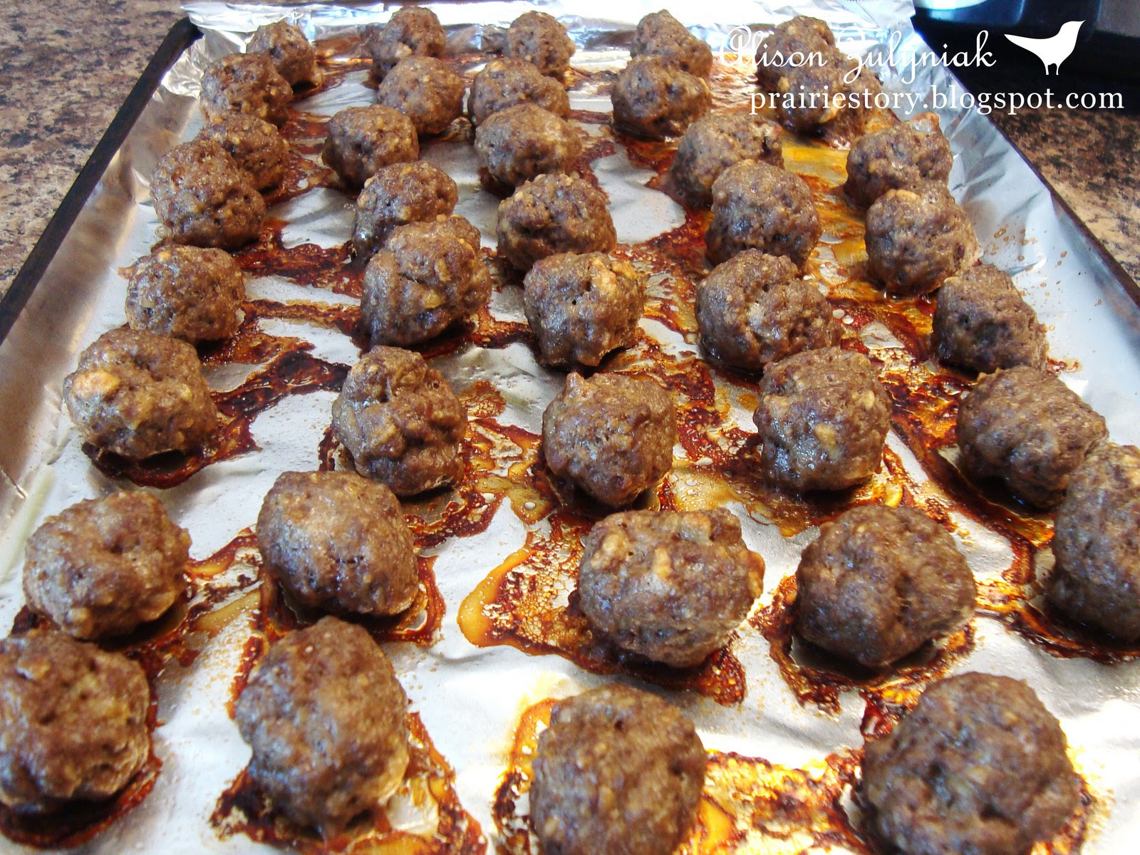 Prairie story baked meatballs baked meatballs forumfinder Choice Image