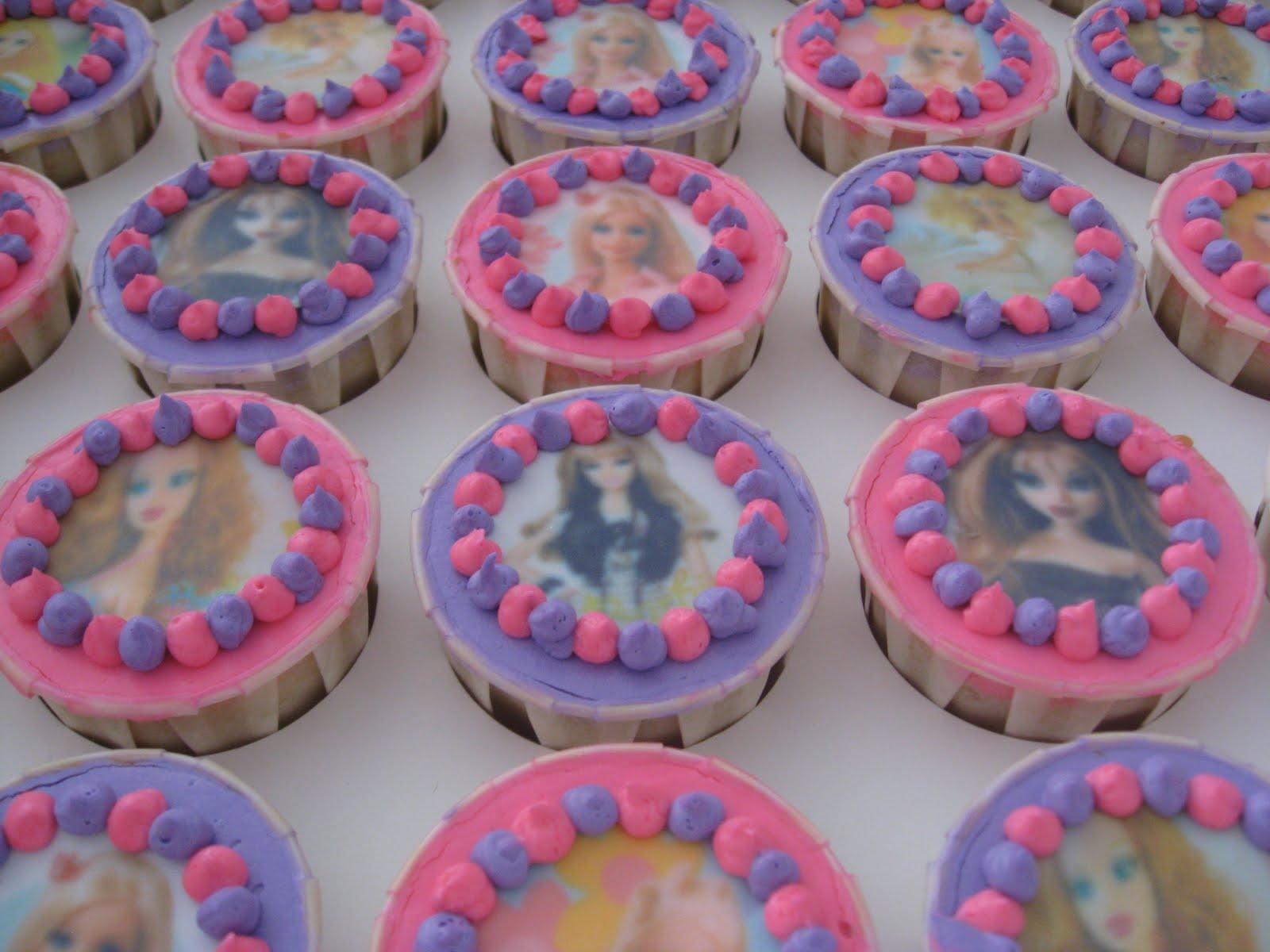 cupcake edible ben 10 dan barbie tempahan dari iela