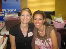 Mel and I at one of the scrapbook weekends at church!!!