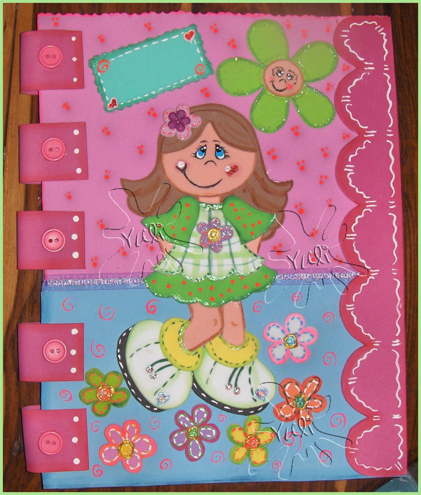Manualidades de carpetas en foami - Imagui
