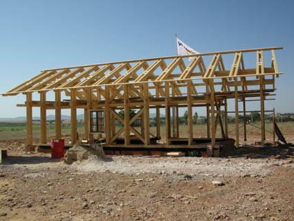 Estructura de madera para casa de balas de paja ecohabitar - Estructura casa madera ...