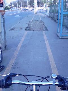 groapa in pista de biciclisti