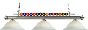 Z-Lite 170PT-WM16 Shark 3 Light Billiard Table Fixture Pewter