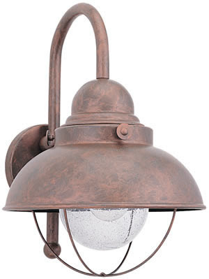 Sea Gull 8871-44 1 Light Sebring Outdoor Wall Lantern Weathered Copper