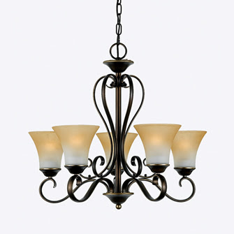 Quoizel DH5005PN Duchess Chandelier One Tier With 5 Uplights