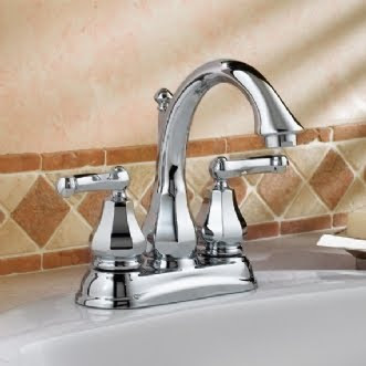 American Standard 6028.201 Dazzle 2 Handle Centerset Bathroom Faucet With Lever Handles