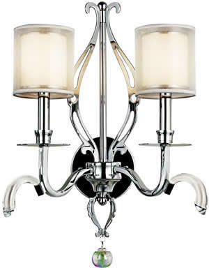 Kichler 42307CH Jardine Wall Sconce 2 Light Chrome