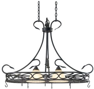 Hunter-Kenroy 91562RBRZ Countryside 2 Light Pot Rack