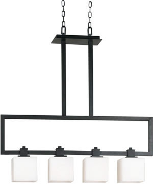 Hunter-Kenroy 10143BRZG Orion 4 Light Island Fixture Bronzed Graphite