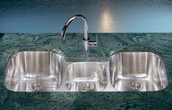 Franke RXX-170 Regatta Undermount Stainless Steel Triple Bowl Kitchen Sink