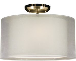 Z-Lite 144-15W-SF Nikko 3 Light 15 Inch Semi Flush Ceiling Fixture Brushed Nickel/White