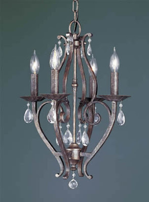 Murray Feiss F1800/4PBR Mademoiselle 4 Light Chandelier Peruvian Bronze