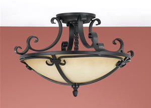 Murray Feiss SF229BK Colonial Manor Semi-Flush Ceiling Light Black