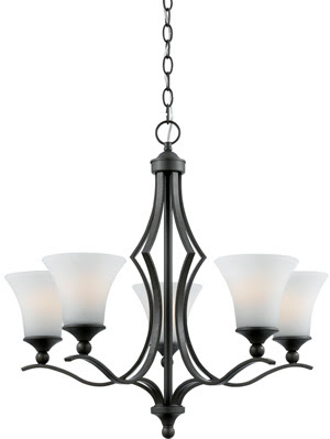 Quoizel SR5005IN Sarah 5 Light Chandelier Iron Gate