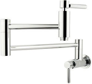 Kingston Brass KS8101DL Concord Wall-Mount Pot Filler With Lever Handle - Chrome