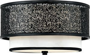 Quoizel UT1615K 2 Light Utopia Flush Mount Mystic Black
