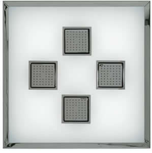 Kohler K-8034 WaterTile Ambient Rain With 54-Nozzle Square Sprayheads
