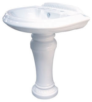 Kingston Brass VPB3298 Naples Pedestal Bathroom Sink