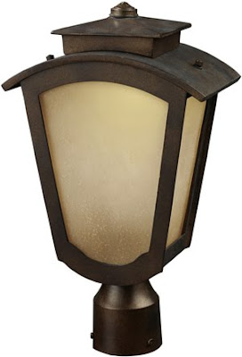 Elk 42243/1 Porter 1 Light Outdoor Title 24 Compliant LED Post Mount Only In Hazelnut Bronze