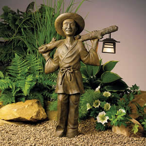 Kichler 15404WST Asian Gardener Pathlight Textured Weatherstone