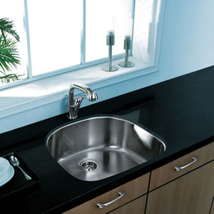 Vigo VG14005 Undermount Single Bowl Stainless Steel Kitchen Sink With Faucet