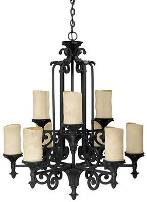 Capital 3269WI-125 Mediterranean 9 Light Chandelier Wrought Iron