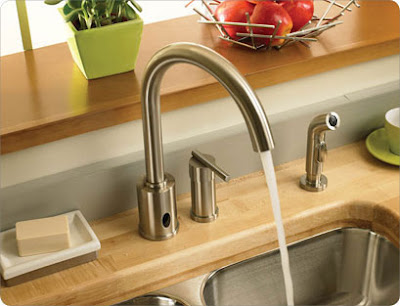 Danze D423058 Parma Dual (Hands Free Or Manual) Kitchen Faucet With Side Spray