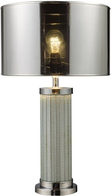 Dimond D1596 Haute Couture 1 Light Mont Alto Table Lamp In Chrome & Mirror