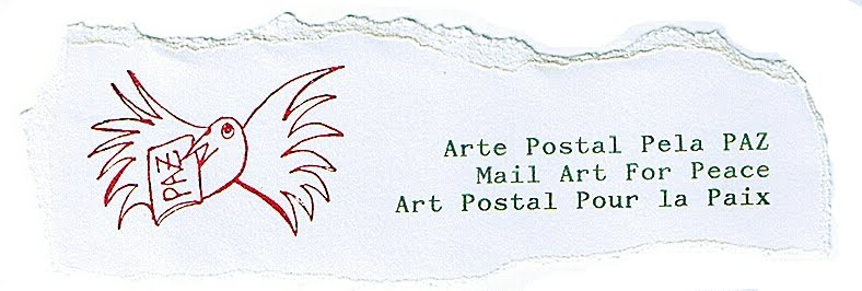 arte postal pela paz - mail art for peace - Constança Lucas