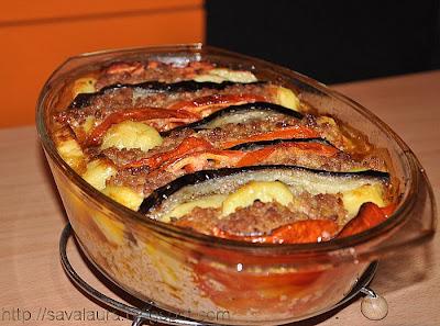 Articole culinare : Sufleu de vinete cu carne tocata