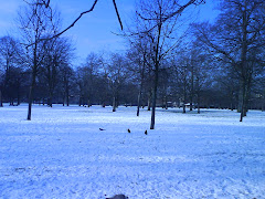 Snow at Kensington Park London