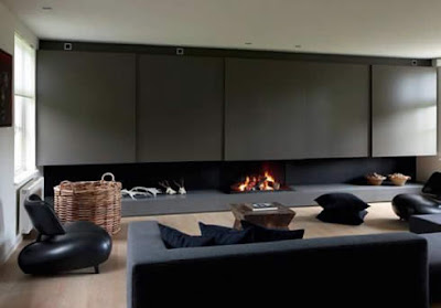 NewMinimalist Home With Fireplace