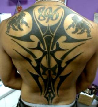 Back Body Tribal Tattoo Gallery