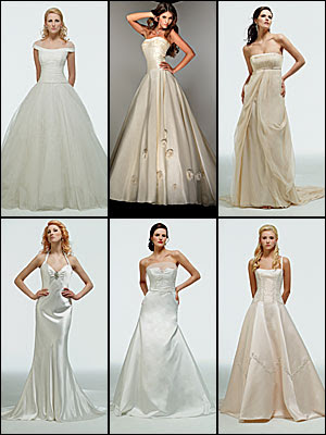 Here are some examples of Cinderella or ball gown wedding dress