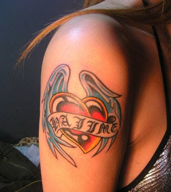 button and on the lower back for women. Popular Heart Tattoo Design