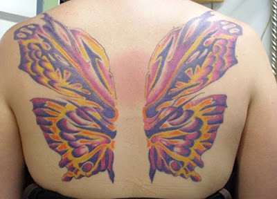 Full back butterfly Tattoos