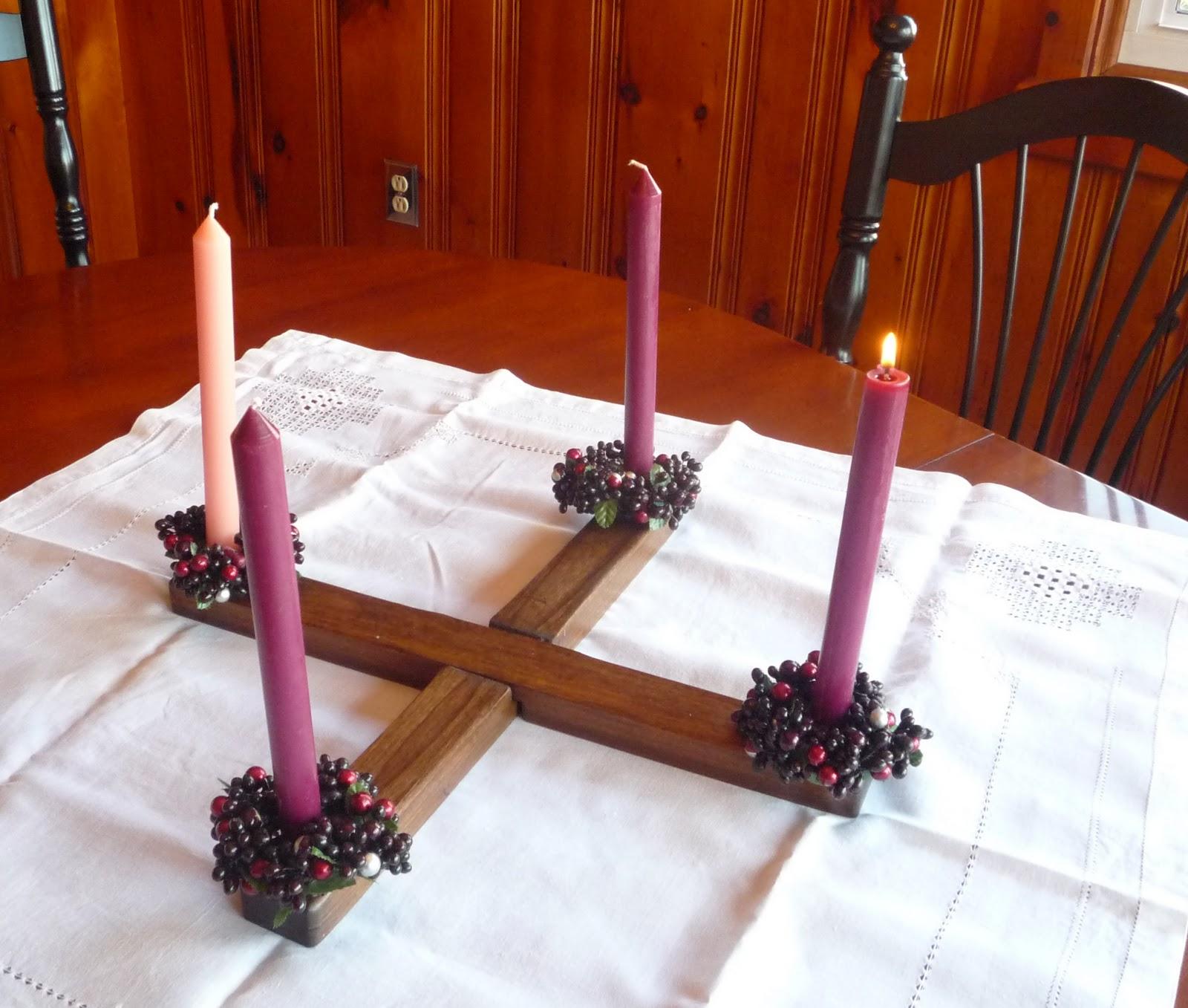 how to make an advent wreath catholic