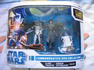 STAR WARS Clone Wars DVD Commemorative Collection General Grievous Obi Wan Kenobi Battle Droid Clone Trooper R2-D2 Anakin Skywalker