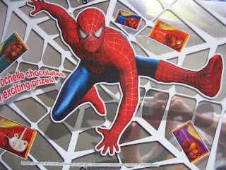 Marvel Spider-man tin foil poster Vochelle Chocolate