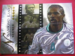 Futera Legends cards Nigeria leg64 leg55 Nwankwo Kanu Jose Luis Chilavert