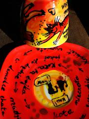 malowanie ceramiki i jej utrwalanie termiczne
