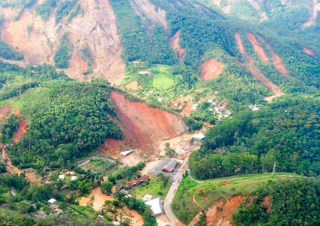 Morros destruídos no estado do Rio