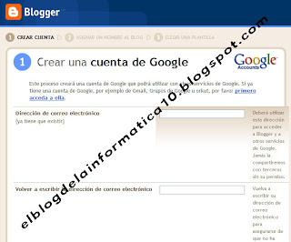 crear una cuenta de google