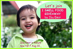 I Smell Food Giveaway by Ibu Emir