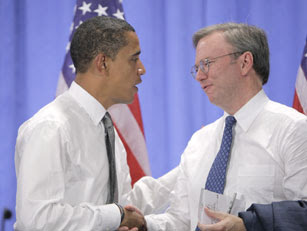 Google CEO Eric Schmidt, Barack Obama