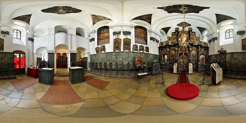 Szentendre Blagovestenszka templom gömbpanoráma