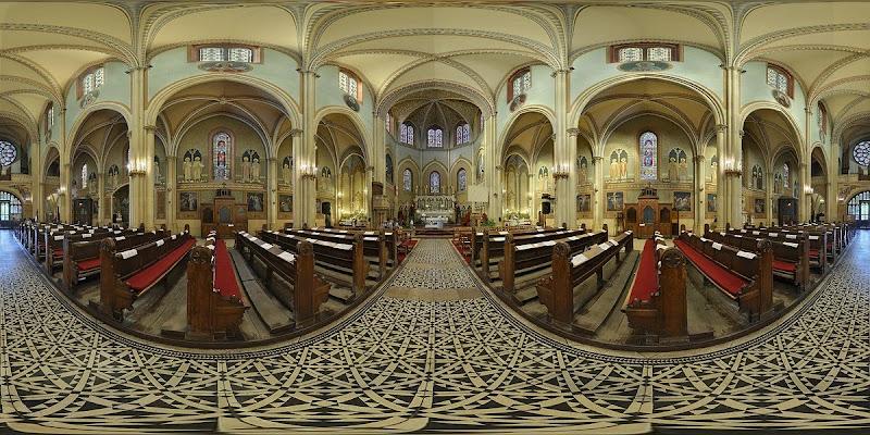 Lehel téri Szt. Margit templom gömbpanoráma