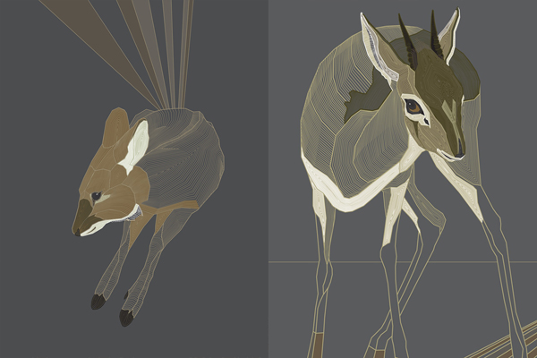Pookaqueen - Graphic Dik Dik and Water Deer