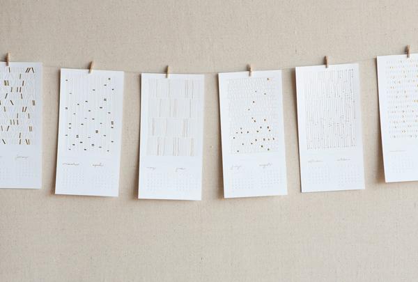 Seesaw Designs - 2011 Letterpress Calendar